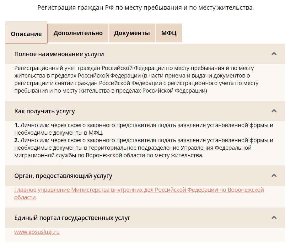 Временная регистрация москва список документов