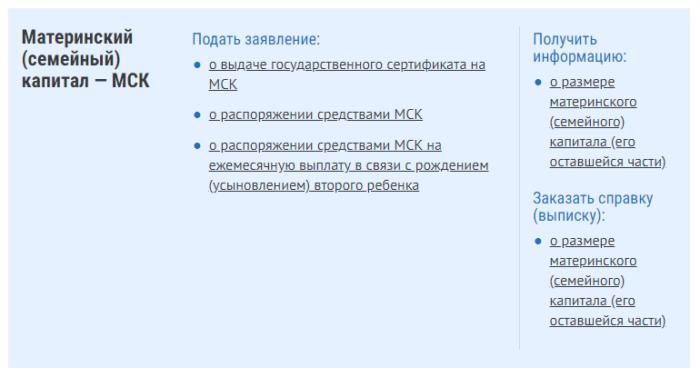 Услуги через ЛК сайта ПФР