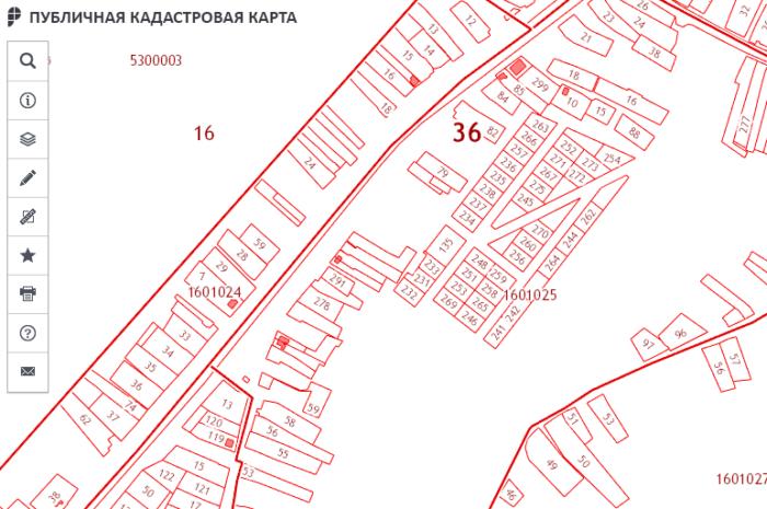 Кадастровая карта местности