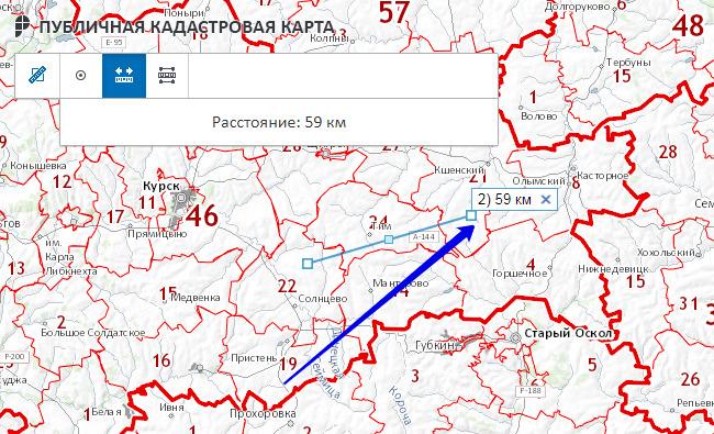Отрезок на карте